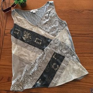 Coldwater Creek size S patched, tank top